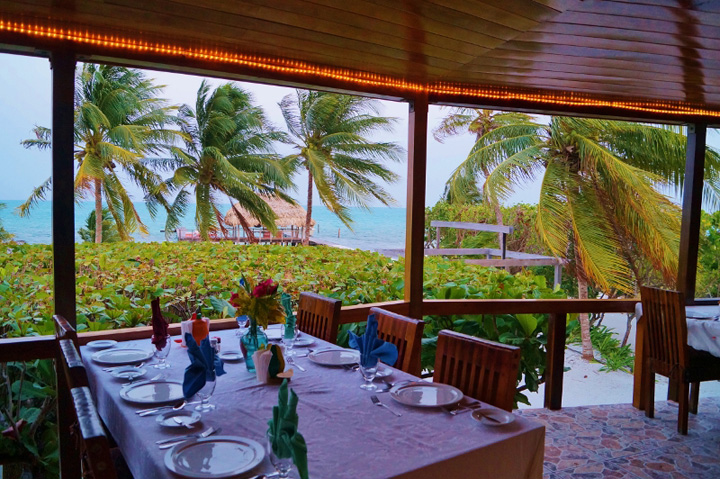 Contribution to Dining at St. George's Caye Resort, Belize