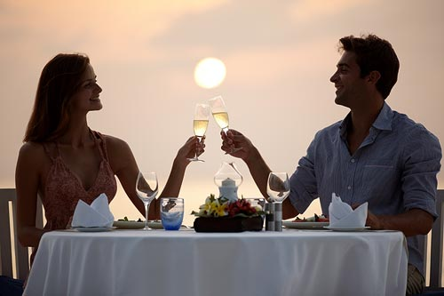 Romantic Dinner for Two with Bottle of Wine